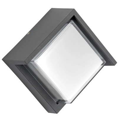 382293 Светильник PALETTO QUAD LED 15W 550LM 180G СЕРЫЙ 3000K IP54 (в комплекте)