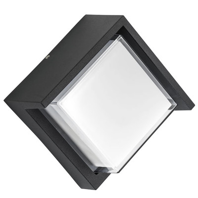 382274 Светильник PALETTO QUAD LED 15W 550LM 180G ЧЕРНЫЙ 4000K IP54 (в комплекте)