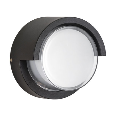 382173 Светильник PALETTO CYL LED 15W 550LM 180G ЧЕРНЫЙ 3000K IP54 (в комплекте)