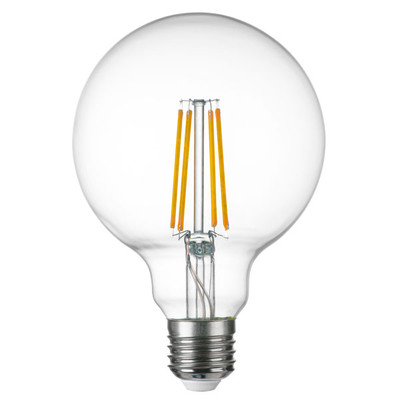 933102 Лампа LED FILAMENT 220V G95 E27 8W=80W 720LM 360G CL 3000K 30000H (в комплекте)