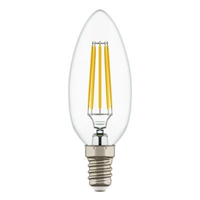 933502 Лампа LED FILAMENT 220V C35 E14 6W=65W 400-430LM 360G CL 3000K 30000H (в комплекте)