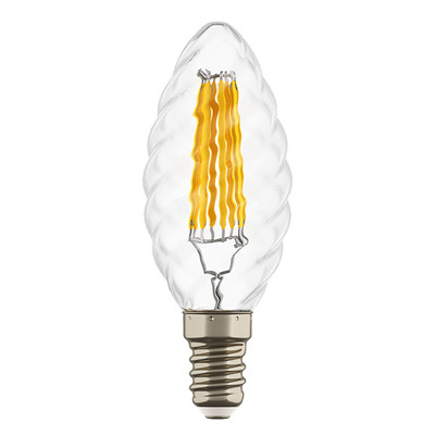 933702 Лампа LED FILAMENT 220V C35 E14 6W=65W 400-430LM 360G CL 3000K 30000H (в комплекте)